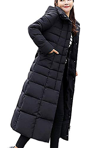 Aceshin Damen Winterjacke Schwarz Wintermantel Lang Mantel Winter Daunenjacke Mit Kapuze