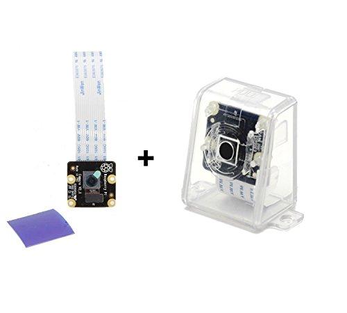 Offizielle Raspberry Pi NOIR-Kamera-Modul V2 - 8 Megapixel Fotos, 1080p Video mit Kamera CASE (CLEAR)