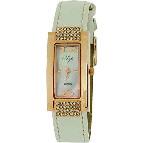 Style nss18C–Orologio per Donna, Cinturino in plastica colore bianco