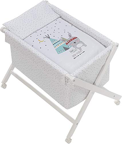 Vestidura minicuna Tijera No Incluye Estructura-Elige tu modelo- danielstore (Tipi oso blanco)