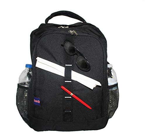 18' Personal Item Under Seat Laptop Backpack for American, South West, Spirit, Frontier Airlines (Negro/Black)