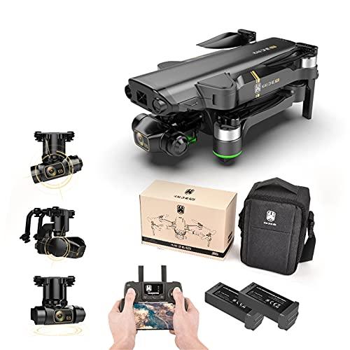 Soolike Kai One Drone con Cámara 1080P HD, WiFi 5G y Cámara Estabilizada de 2 Ejes 4K, Motor sin Escobillas,20 Minutos de Duración de la Batería, Foto/Video de Gestos,Vuelo Asistido por GPS(2 Pila)