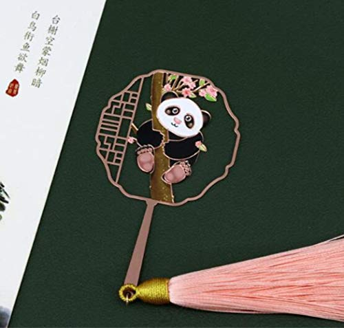 NIAN - Segnalibro a Forma di Panda Gigante, con Nappe Cinesi Fengtaohua 1