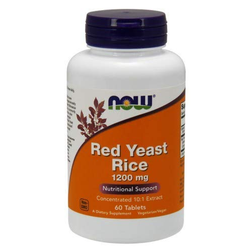 Red Yeast Rice Extract, 1200 mg, 60 Tabs by Now Foods (Pack of 6)