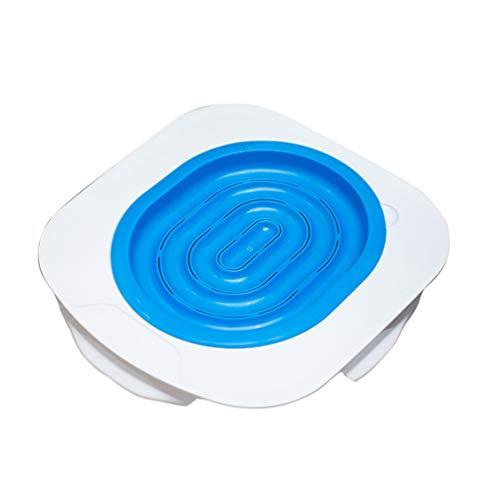 Haobing Gato Inodoro Entrenador Kit Alternativa del Arenero Mascotas WC Sistema de Entrenamiento (Azul, Un tamaño)