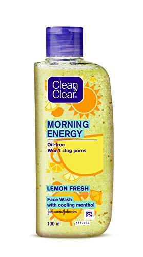 Clean & Clear Morning Energy Lemon Fresh Face Wash, Yellow, 100 ml