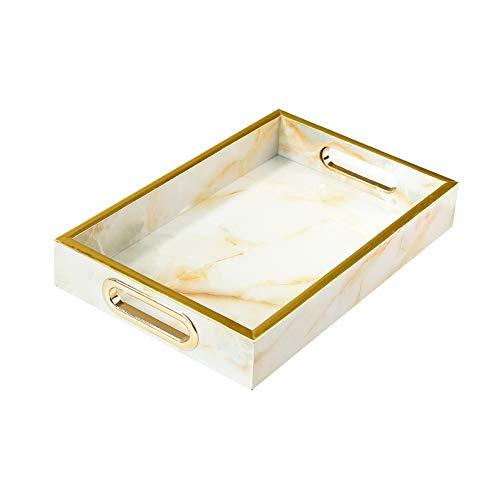 NAFE Houten trays-decoratieve trays met mooie patronen in verschillende maten, marmeren trays met houten patronen, parfum trays, sieraden trays, snuisterijen trays