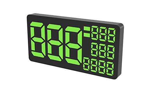 Kingneed Truck GPS Speedometer 9.5 inch Extend Digital Display Vehicle Odometer Total Mileage Overspeed Alarm MPH