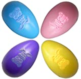 "Gift Boutique Giant Plastic Easter Eggs Outdoor Decorations, Set of 4 Colors; 16"" Long!"