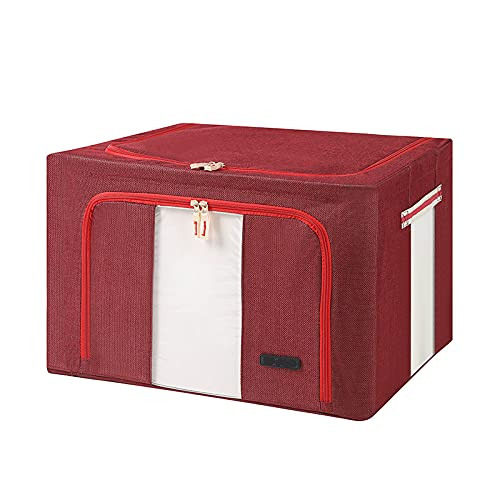 Folding storage box Oxford cloth steel frame box quilt toys clothing finishing storage box large cotton hemp Baina box