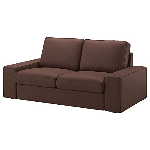 IKEA Genuine Slipcover for Kivik Sofa, Loveseat and with Chaise, Borred Dark Brown (Loveseat)