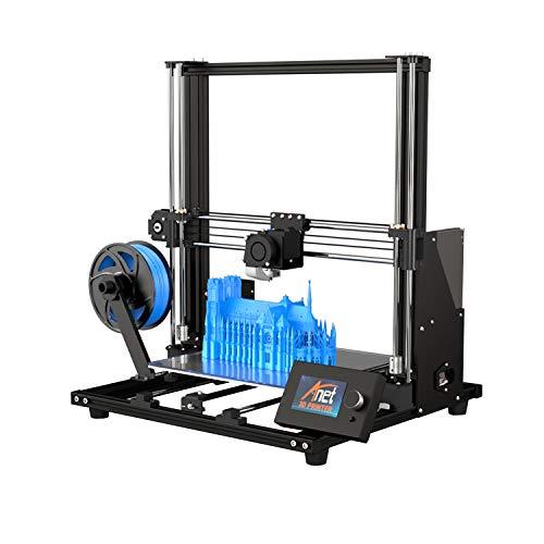 Impresora 3D, Anet A8 Plus Impresora 3D Aluminum DIY, Tamaño de impresión 300 * 300 * 350mm Funciona con ABS, PLA, HIPS, con Central de Control LCD extraíble