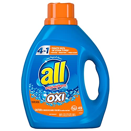 All Liquid Laundry Detergent With Oxi Stain Removers and Whiteners, 49 Loads, 88 Fluid Ounce