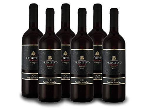 Torrevento Primitivo IGT - Italien-Apulien Vorteilspaket (6x 0,75l) Rotwein trocken