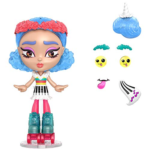 Lotta Looks Skate Pop Doll with 10+ Plug/Play Pieces, 100+ Looks, Multi (GMW43)