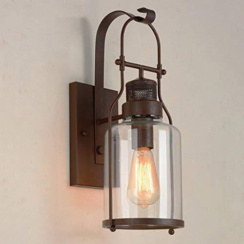 Retro industriële stijl wandlamp wandlamp lamp stofdicht en waterdicht buiten wandlamp plafondlamp badkamer keuken gang balkon (Rusty)