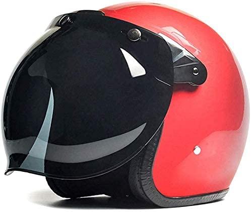 Casco portátil eléctrico para motocicleta para hombre y mujer, Harley Retro Four Seasons Light semi-cubierto, marrón, 25 x 23 x 25 cm, protección