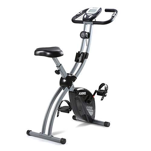 KUOKEL-Bicicleta Estática Plegable Bicicleta Spinning Exercise Bike Resistencia...