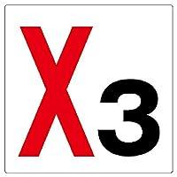【346-03】通り芯表示板 X3