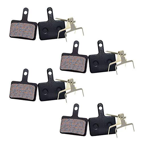 4 paia di pastiglie dei freni a disco della bicicletta per Shimano M575 M525 M515 T615 T675 M505 M495 M486 M485 M475 M465 M447 M446 M445 M416 M415 M395 M375 M375 M315 M355 C601 C501