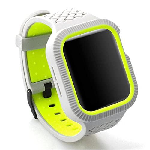 Correa de silicona de forma trenzada con parachoques para Apple Watch Band Series 6 SE 5 4 Pulsera para Iwatch 40mm 44mm Funda para cinturón