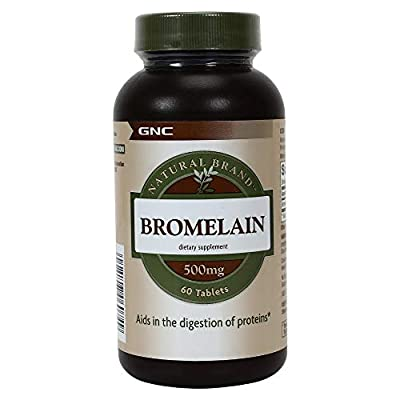 GNC Natural Brand Bromelain 500mg,60 servings