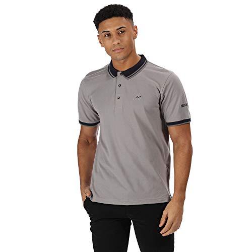 Regatta Polo Coton Talcott II avec col boutonné T-Shirts Homme, Rock Grey, FR (Taille Fabricant : 4XL)