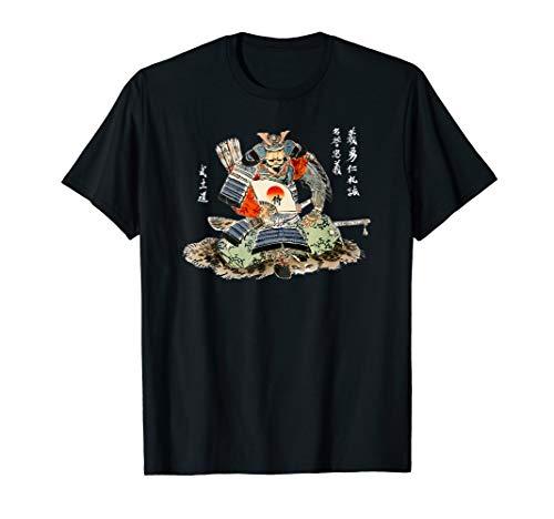 Vintage Samurai, 7 Tugenden, Bushido Japanische Kalligraphie T-Shirt
