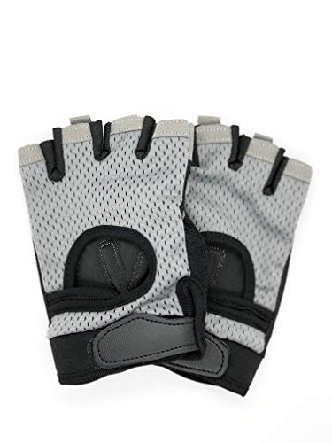 New Fit Weight Lifting Gym Gloves Unisex - Crossfit, Power-Lifting, Body Building, Exercise, Weight-Lifting (Gray, Small)