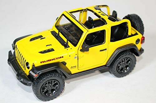 2018 Jeep Wrangler Rubicon No Top Yellow - Kinsmart P/B