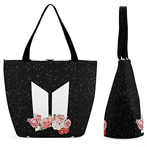 B-T-S - Bolsa de compras para mujer, color Multicolor, talla Talla única