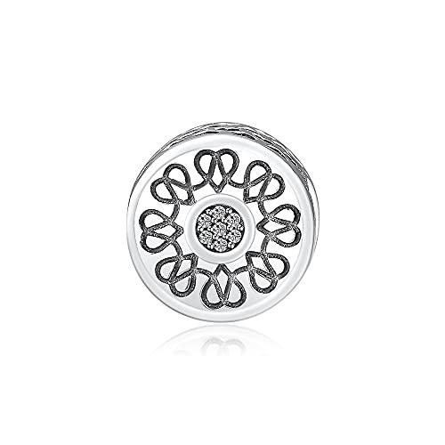 LIIHVYI Pandora Charms Original 925 Cuentas De Plata Esterlinaradiant Hearts Fits Bracelet Argent Sterling Silver Metal Beads para La Fabricación De Joyas Berloques Kralen