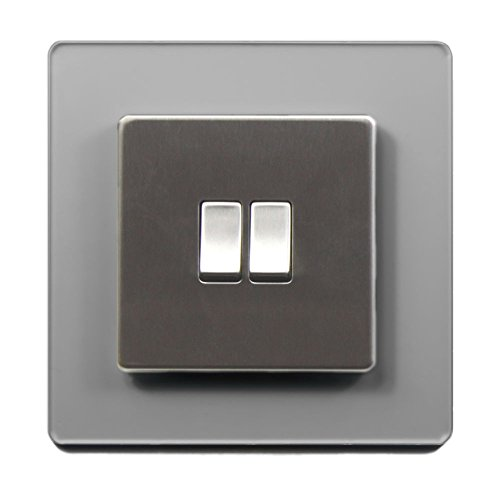 Single Light Switch Surround Acrylic Finger Plate Panel Socket - 59 COLOURS