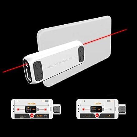 Walker Valentin Telémetro Teléfono IBHT DP10 40m Mini Mano láser medidor de Distancia bidireccional con láser de Regla telémetro láser Individual Doble/Switch Área de medición de Volumen Nuevo