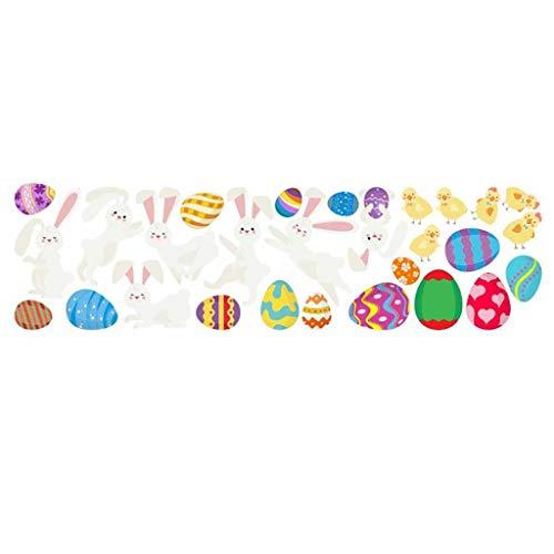 Whitegeese Etiqueta engomada Encantadora de la Pared del Conejo de Pascua de la Historieta Etiqueta de la habitación de los niños Pegatinas del hogar