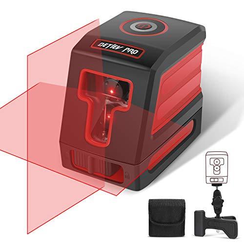 Color Rojo William-Lee autonivelante medidor Horizontal y Vertical 2 l/íneas 1 Punta Nivel l/áser de 360/°