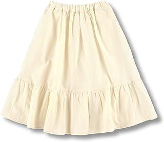[ブランシェス] ティアード スカート 女の子 キッズ ガールズ 綿 コットン ガーゼ素材 無地 ロングスカート ポケット付き