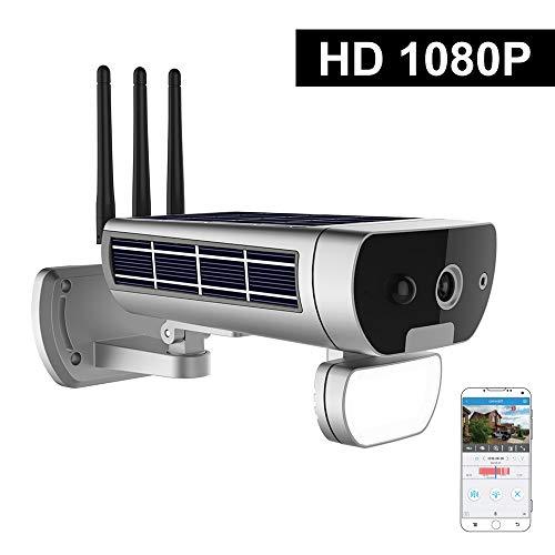 Inalámbrico HD 1080P WiFi Energía Solar y batería Bullet Cámara IP IR-Cut Visión Nocturna PIR Detección de Movimiento Impermeable Thunderproof Cámara de Seguridad para Exteriores Ranura de Tarjeta TF