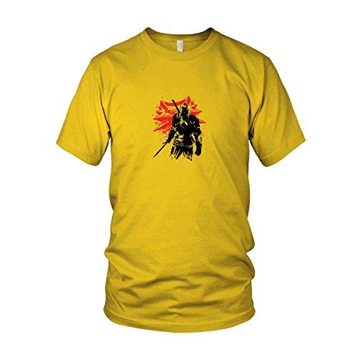 Geralt - Herren T-Shirt, Größe: M, Farbe: gelb