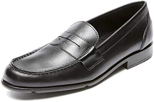 Rockport mens Classic Penny Loafer, Black/Black, 12 W US
