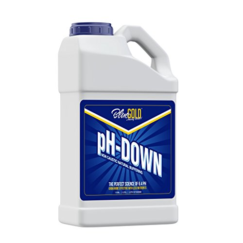 Blue Gold pH Down 1 Gallon 0.0-0.3 pH Non Caustic Concentrate for All Pro General Hydroponics Systems, Nutrient Reservoir Tanks, Aquaponics.