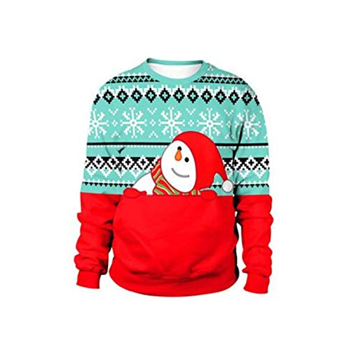2021 Ugly Christmas Sweater for Gift Santa Elf Funny Pullover Womens Mens Jerseys and Sweaters Tops Autumn Winter Clothing
