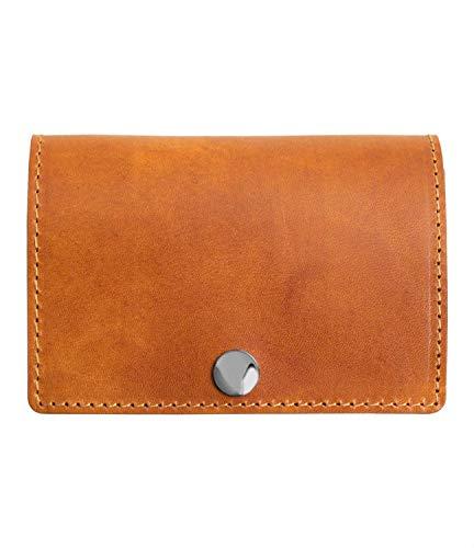 [Dom Teporna Italy] 小さい財布 本革 イタリアンレザー コンパクトな三つ折り ミニ財布 小銭入れあり メンズ レディース ブラウン