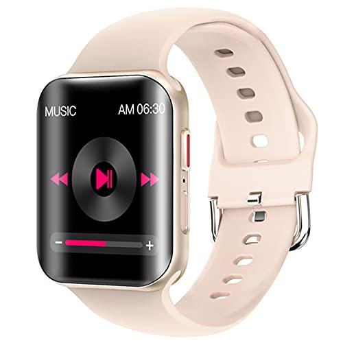 YYDM Reloj Inteligente Multifuncional, Monitoreo De Salud Y Grabación De Datos De Ejercicios, Llamadas De Manos Libres Bluetooth, Visualización Simultánea De Llamadas Entrantes Y SMS,Oro