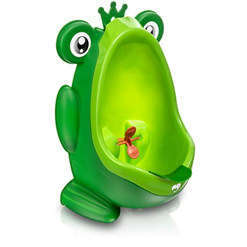 Product Image of the Frog Potty Training Urinal for Boys Toilet with Funny Aiming Target - Green
