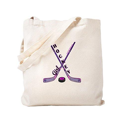 CafePress–Hockey Mädchen–Leinwand Natur Tasche, Reinigungstuch Einkaufstasche Tote S khaki
