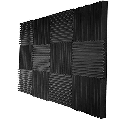 Acoustic Panels Studio Foam Sound Proof Panels Noise Dampening Foam Studio Music Equipment Acoustical Treatments Foam 12 Pack-12''12''1''