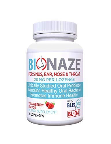 Bionaze Oral Sinus Probiotic w/BLIS K12 & BL-04 for Sinus, Throat, Ear, Nose, Mouth, Teeth and Gums. Clinically Proven Strains to Improve Overall Health and Breath