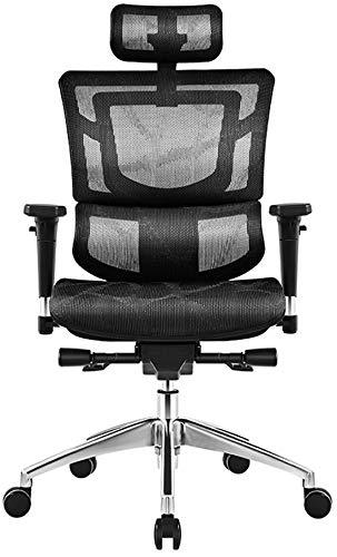 MIIGA Premium Bürostuhl Drehstuhl Schreibtischstuhl aus Mesh-Gewebe, verstellbare Kopfstütze, Armlehnen und Sitzhöhe, Belastbarkeit 150 kg, ergonomisch, hochwertiges Design MG001AD (Schwarz)