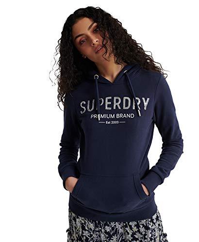 Superdry Premium Sequin Entry Hood Ub Capucha, Azul (Atlant Navy Gkv), XXS (Talla del Fabricante:6) para Mujer